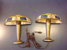Vintage Wiedemann's Fine Beer Registered Lamp Shade Lighted Beer Sign Set   eBay