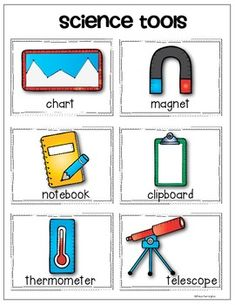 Worksheet Science Tools Worksheet science tools anchor charts and on pinterest vocabulary cards chart pack for young scientists