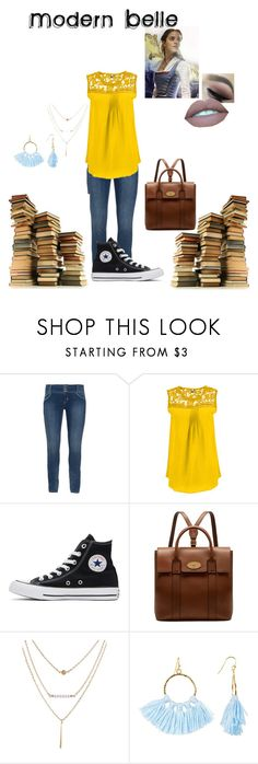 """""""Modern Belle"""" by mackenzie-milkduds on Polyvore featuring Converse, Mulberry, Taolei, Emma Watson, modern, disney, disneycharacter and plus size clothing"""