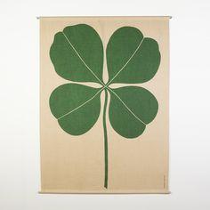 Original 4 leaf clover 1972 textile enrichment panel by Alexander Girard for Herman Miller, now sold