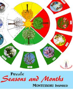 Seasons and Months Montessori Inspired Puzzle #Majestic #Cosmic #puzzles