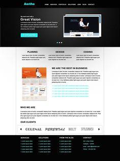 Free PSD Website Template : Aastha