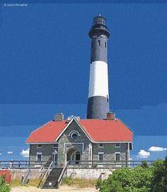 Fire Island LighthouseGreat South Bay Fire Island inlet Long Island US40.632444, -73.218583