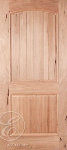 Exterior Spanish Walnut 2 Panel Archtop with Raised Panel V-Groove Panel [CR662PG]