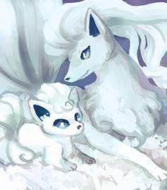 alola form vulpix and ninetails fanart Pokemon Fan Art, I Play Pokemon Go, Mega Pokemon, Pokemon Funny, Pokemon Memes, Pokemon Stuff, Pokemon Ninetales, Eevee Evolutions, Magical Creatures