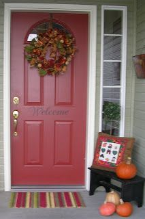 Sherwin Williams Red Barn. To paint my front door! & Front door decor. Sherwin Williams - rainstorm | La Maison ... pezcame.com