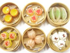 Dollhouse Miniature Food 6 Chinese Lunch Food