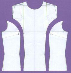 Dámská halenka | jak na základní střih a modelace | cz Sewing Hacks, Sewing Tutorials, Sewing Projects, Dress Patterns, Sewing Patterns, Pattern Drafting, Sweet Dress, Planer, Diy And Crafts