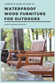 Our guide on how to waterproof wood furniture for outdoors focuses on using sealers, paints, and repellants. Cover the furniture during rain or snow too. Ponds Backyard, Backyard Landscaping, Backyard Ideas, Garden Ideas, Small Front Yards, Diy Yard Decor, How To Waterproof Wood, Yard Maintenance, Cheap Plants