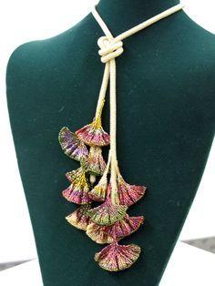 Ginko leaves. Original pattern by Diane Fitzgerald
