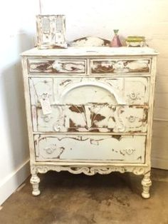 Antique Shabby Chic Chest of Drawers  $198  Dallas Vintage Market Booth #7777  White Elephant 1026 N. Riverfront Blvd. Dallas, TX 75207   Read more: http://dallas.ebayclassifieds.com/other/dallas/antique-shabby-chic-chest-of-drawers/?ad=39707869#ixzz3cOFRMena