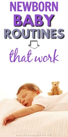 Newborn baby sleep routines for the first eight weeks. Schedules for your baby to give you an idea of what the first 8 weeks with baby will look like.