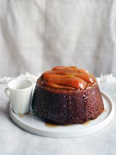 steamed pear and ginger pudding..