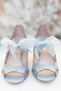 http://www.harrietwilde.com Harriet Wilde style Peony Low in blue – Elegant Wedding Shoes and Exquisite Statement Heels | Love My Dress® UK Wedding Blog