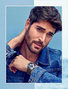 Nick Bateman stars in Guess' spring-summer 2018 accessories campaign. Nick Bateman, Hairy Men, Bearded Men, Eye Candy Men, Portrait Photography Men, Beard Styles For Men, Beard Lover, Hommes Sexy, Actor Model