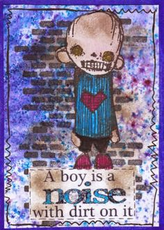 Artwork created by Kerstin using rubber stamps designed by Daniel Torrente for Stampotique Originals