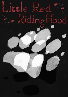 Front cover for modern/adult Little Red Riding Hood. Practice piece using my stencil monoprint from Illustration. AS coursework.