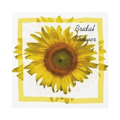 Invite your friends and family to a wedding shower honoring the bride to be with the pretty Yellow #Sunflower #Bridal #Shower #Invitation .This elegant custom floral bridal shower invite features a digitally enhanced botanical photograph of a yellow sunflower blossom. Perfect for a sunflower, June, July or August summer or September, October or November fall shower theme. #wedding
