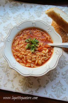 Algerian Orzo Soup / Chorba Lsen Tir via La Petite Panière