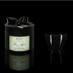 D.L. & Co Thorn Apple Candle 2 oz - packaged in the signature black silk hat box with satin ribbon.