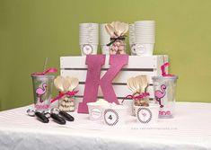 A Flamingo 4th Birthday Party | CatchMyParty.com