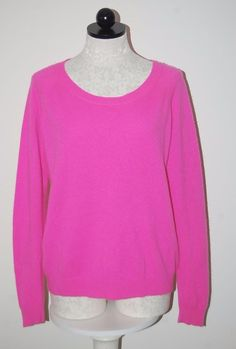 Apt. 9 100% Cashmere Hot Pink Crewneck Sweater XL  | eBay