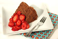 Decadent chocolate angel food cake topped with macerated strawberries. Chocolate Angel Food Cake, Decadent Chocolate, How To Make Chocolate, Chocolate Flavors, Cake Tasting, Strawberry Cakes, Desserts To Make, Cake Toppings