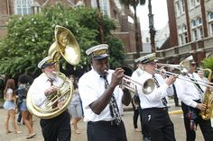 The Storyville Stompers Brass Band lead a second line parade through the main campus at Loyola University New Orleans on August 24, 2012 following the Class of 2016's class photo. Loyola University New Orleans, Second Line Parade, Class Of 2016, Music Ed, Brass Band, August 24, Bad Timing, Mardi Gras, Louisiana