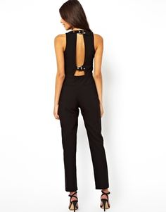 I have a thing about jumpsuits and rompers and found this hot look in black.
