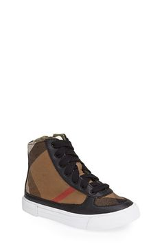 Burberry 'Merrison' High Top Sneaker (Walker, Toddler, Little Kid & Big Kid) available at #Nordstrom