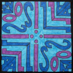 Kaleidoscope Name Art - Good beginning of the year idea