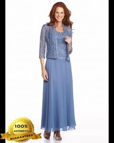 Grandmother of the Bride ----Karen Miller 96540 Chiffon Dress with Lace Jacket (Plus Sizes)