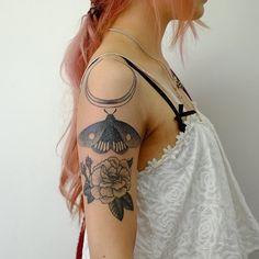 Two Hands Tattoo @twohandstattoo Moth and moon fre...Instagram photo   Websta (Webstagram)