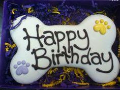 Happy Birthday Dog Treat Cookie Bone Cake