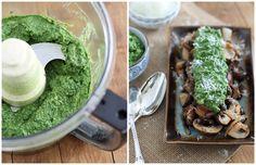 Caramelized Mushrooms with Pesto Guacamole | runningtothekitchen.com by Runningtothekitchen, via Flickr