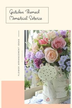 Looking for memorial service ideas for a loved one who loved gardens? This Ultimate Guide has everything you need to plan a garden themed memorial service! Funeral Flower Arrangements, Funeral Flowers, Love Garden, Garden Theme, Memorial Service Program, Funeral Ideas, Service Ideas, Unique Gardens, Everyday Items