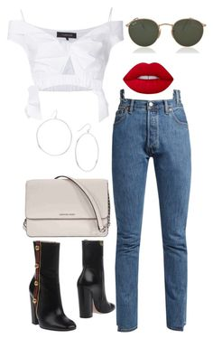 """Untitled #4860"" by dudas2pinheiro ❤ liked on Polyvore featuring Thakoon, Vetements, Gucci, Michael Kors, Gorjana, Ray-Ban and Lime Crime"