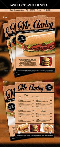 Yummy Food Menu Yummy food, Print and Food menu template - food menu template