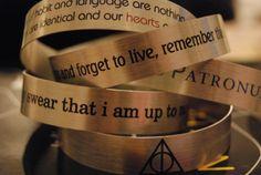 Love, love, love! Harry Potter bracelets