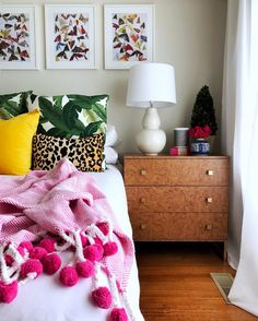 Amazing DIY Ikea Hack using Ikea TRYSIL chest of drawers using burl wood contact paper and gold spray paint and handles Lyndsay (@homesweetrental)
