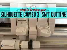 If you're having trouble with your Silhouette CAMEO 3 not cutting there are a few reasons why. Don't worry - you don't need to send the cutting machine back, you just need to know what to look for so