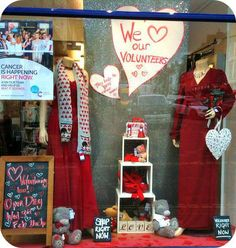 Volunteering Valentines window at CRUK Bridgnorth ...32