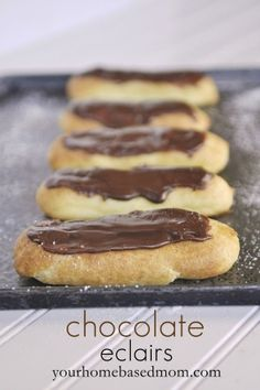 Create your own French pastries at home with this recipe for chocolate eclairs and cream puffs.