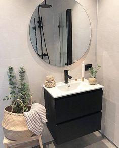 Baderomsgalleri - VikingBad AS Rustic Bathroom Shelves, Modern Farmhouse Bathroom, Modern Bathroom Decor, Bathroom Styling, Bathroom Interior Design, Bathroom Grey, Diy Bathroom, Bathroom Inspo, Earthship