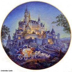 your carriage awaits. Castle Illustration, Disney Puzzles, Friends Wallpaper, Cinderella Castle, Fairytale Art, Thomas Kinkade, Alice In Wonderland, Graham, Fairy Tales