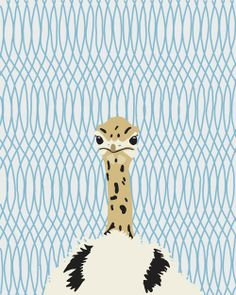 """Ostrich chick. Currently a flock of them at the Academy.16"""" x 20"""" Fine Art Print. $80"""