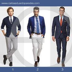 ¿Si aun estas pensando cómo vestir hoy para la oficina? te presento estas alternativas que pueden ayudarte. ¿1, 2 ó 3? ¿Cuál prefieres?