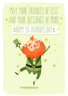 Happy St Patrick's Day Patricks day illustration Holiday Illustrations Best Picture For st. Patrick day For Your Taste You are looking for something, and. St Patricks Day Pictures, St Patricks Day Quotes, Happy St Patricks Day, Erin Go Braugh, Saint Patricks Day Art, Calendar Pictures, San Patrick, St Patrick's Day Crafts, Irish Blessing