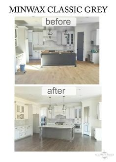 Choosing a Minwax stain for red oak floors was not easy. We love Restoration Hardware floors, but did not have reclaimed wood in hand so we recreated it. Red Oak Stain, Red Oak Floors, Grey Wood Floors, Oak Hardwood Flooring, Grey Flooring, Plywood Floors, Grey Stain, Flooring Ideas, Laminate Flooring