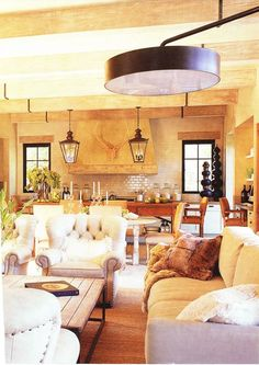 love how these chairs manage to look cozy, rustic & elegant all at once